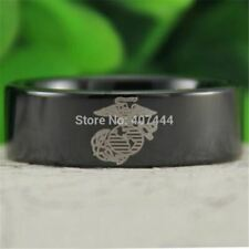 USMC MARINE CORPS Men's Fashion Tungsten CARBIDE Ring WEDDING