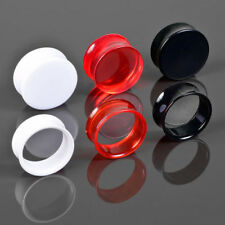 0 1/8-0 31/32in Plug Flesh Tunnel Double Flared Acrylic Ear Piercing Plastic