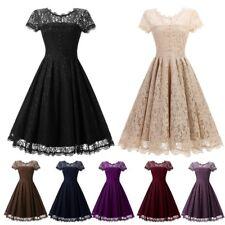 AU Womens Vintage Lace 1950s Rockabilly Dresses Retro Party Prom Swing Dress New