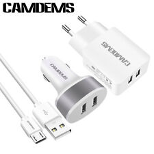 USB Cable dual Car Charger for Samsung HTC LG android Tablet PC MP3 MP4
