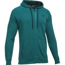 Under Armour Sportstyle Fleece Mens Hoody Zip - Turquoise Sky All Sizes