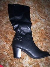 Womens NIB Black Knee Hi boot with heel by Cliffs (White Mountain)