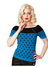 NEW 1950s Polka Dot Rockabilly Top, High Quality, 50s Vintage Retro Top, XS