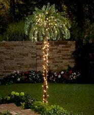 Lighted Palm Trees Indoor Outdoor Tropical Pathway Pre-Lit Plastic and Metal New