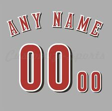 Baseball Cincinnati Reds Road Gray Jersey Customized Number Kit un-stitched
