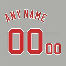 Baseball Cincinnati Reds 1990 Gray Jersey Customized Number Kit un-stitched