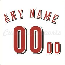 Baseball Cincinnati Reds White Home Jersey Customized Number Kit un-stitched