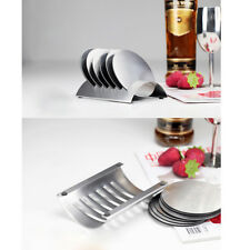 Stainless Steel Drink Coaster Set Round Table Coasters for Glasses Bar Drink
