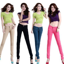 Ladies Skinny Jeans New Stretchy  Fit 1Pcs Coloured Trousers