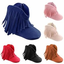 Toddler Fringe Tassel Boots Baby Kids Boy Girl Soft Soled Winter Shoes 0-18M