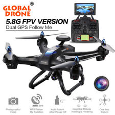 Global Drone X183 5.8G WiFi FPV Camera Dual-GPS Brushless Quadcopter Helicopter