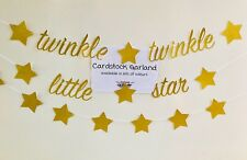 GARLAND BANNER CUPCAKE TOPPER SET TWINKLE LITTLE STAR GENDER REVEAL BABY SHOWER