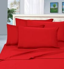 Complete Bedding Items 1000 TC Egyptian Cotton AU-Size Red Solid