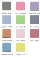 """1/8"""" or 1/16"""" Gingham Check Fabric Various Colors"""