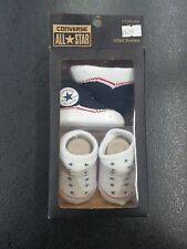 BABY  CONVERSE ALL STAR SOCK BOOTIES IN BLACK AND WHITE *SET OF 2* *JUST £8.99*
