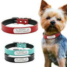Leather Personalized Dog Collars Custom Cat Pet Collar For Small Medium Dogs