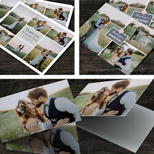 Wedding Thank You Cards with Personalised Photo + Coloured Envelopes