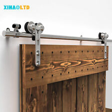 Stainless Steel Sliding Barn Door Hardware Closet Track Kit Free Shipping