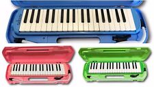 NEW SAKURA 37 Piano Keys Keyboard Melodica with Carrying Case Pink Green Blue