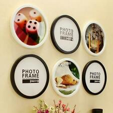 Round Photo Frame DIY Wooden Photo Frames Hanging Wall Home Creative Decoration