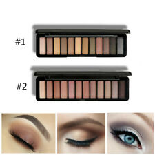 12 Colors Shimmer Matte Eye Shadow Makeup Earth Nude Eyeshadow Palette Set