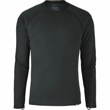 Mens PATAGONIA Capilene Midweight Crew BLACK Long Sleeve Baselayer Top 44425 NEW