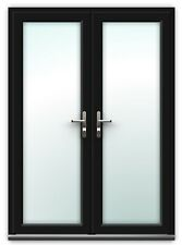 BLACK UPVC FRENCH DOORS MADE TO MEASURE      ****NEW****