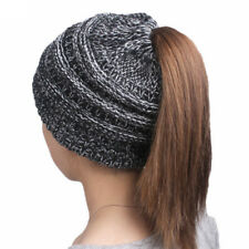 Fashion winter women's knitting wool hat earpiece cap with a ponytail cap hot GS