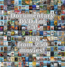 Documentary DVD Lot #3: 249 Movies to Pick From! Buy Multiple And Save!