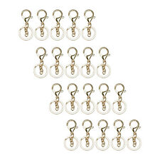 20 Pieces Metal Lobster Clasp Split Keychain with Key Ring