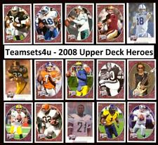 2008 Upper Deck Heroes Football Set ** Pick Your Player **