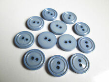 25 x 16mm Blue 2 Hole Buttons