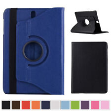 360 Rotate PU Leather Folio Stand Case Cover For Samsung Galaxy Tab 3 4 Tablet