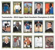 2013 Upper Deck Goodwin Champions 1-210 ** Pick Your Sport **
