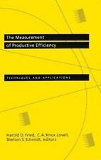 The Measurement of Productive Efficiency : Techniques and Applications (1993, Ha