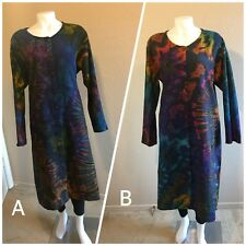 NWT Gorgeous Boutique Tie Dye Sacred Threads Full Length Coat!!