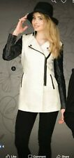 Women Solid Black Coat Jacket Outerwear by Ci Sono Cavalini last one size Small