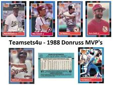 1988 Donruss MVP's Baseball Set ** Pick Your Team **