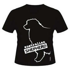 Australian  Shepherd Dog Breed T-Shirt, V Neck Style, Ladies & Men's Sizes