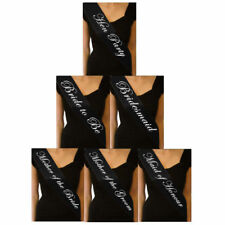 BLACK HEN NIGHT SASH BRIDE ACCESSORIES PARTY SASHES GIRLS NIGHT OUT DECOR