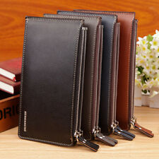 FX- Fashion Faux Leather Zipper ID Credit Card Holder Bifold Long Wallet Gift Ha