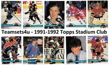 1991-92 Topps Stadium Club Hockey Set ** Pick Your Team ** See checklist