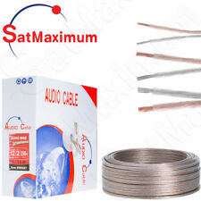 Audio Speaker Cable 12/2 14/2 16/2AWG  Gauge TRANSPARENT Clear Wire for Home Car