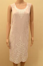 Next Tailored Pink Embroidered Silver Sequin Shift Dress  UK 8 tall & 14 petite