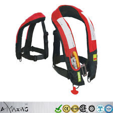 Premium M-33 Manual Inflatable Life Jacket Vest Buoyancy Aid PFD Highly Visible