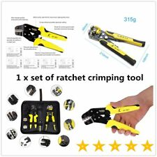 Functional JX-D4301 Ratchet Crimping Tool Wire Strippers Terminals Pliers F7