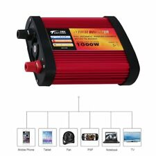 Car Power Inverter DC12V to AC240V with 2 USB Ports+AC Outlet 300W/500W/1000W 1@