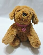 """Barbie Brown Dog Plush Puppy Stuffed Animal Sound Barks Whines Pants Soft 14"""""""