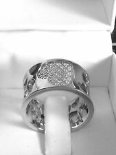 WOMENS BRILLIANT ROUND CUT cz  RING  white   GOLD 18kt overlaid size 6-7-8