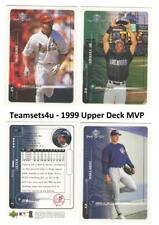 1999 Upper Deck MVP Baseball Set ** Pick Your Team **